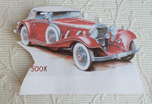 decoupage motyw starego samochodu