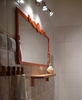 lustro diy przemiana metamorfoza, decoupage, vintage, ikea, remont łazienki samodzielnie - haart.pl blog diy zrób to sam