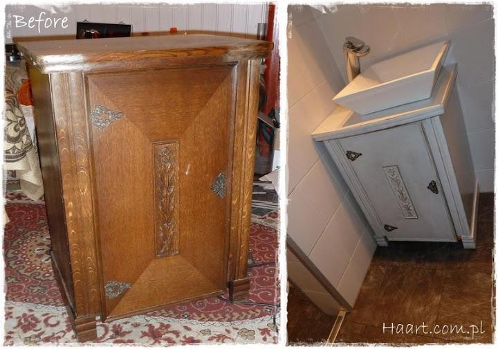maszyna do szycia szafka pod umywalkę vintage - haart.pl blog diy zrób to sam