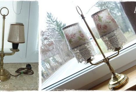 jak odnowic lampe, decoupage