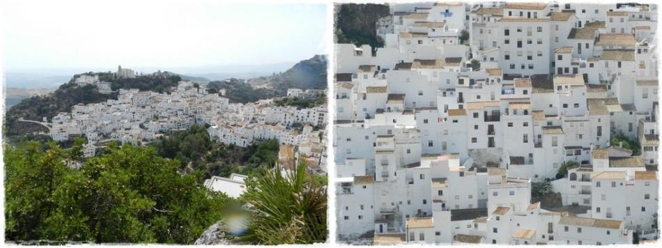casares pueblos blancas w andaluzji, hiszpania, białe domy