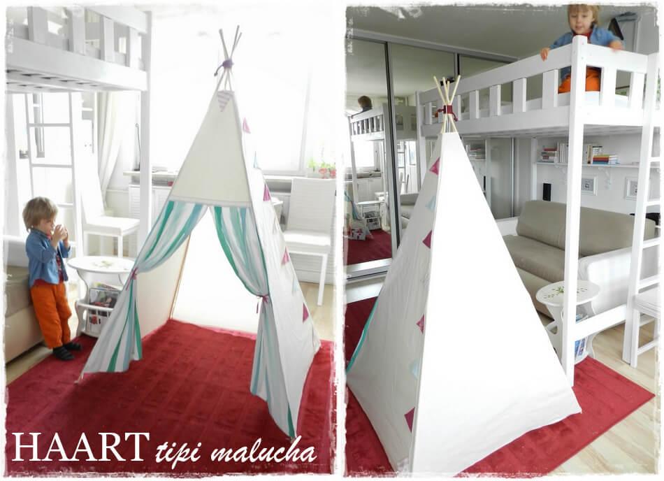 teepee namiot dla dziecka diy
