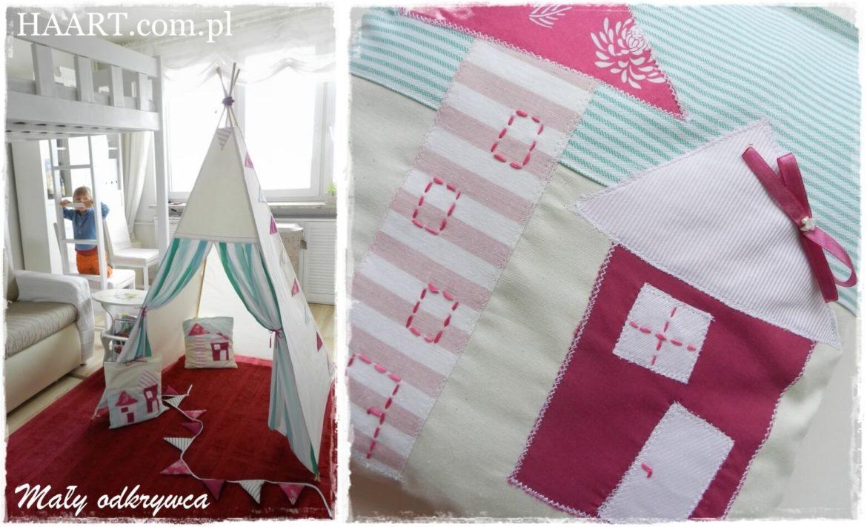 ręcznie haftowane poduszki do namiotu dziecięcego teepee
