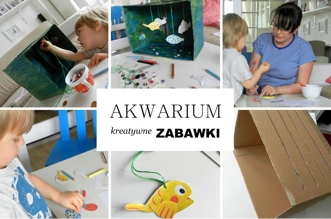 akwarium z tektury, kreatywna zabawka, malowanie, poradnik, instrukcja - haart.pl blog diy zrób to sam