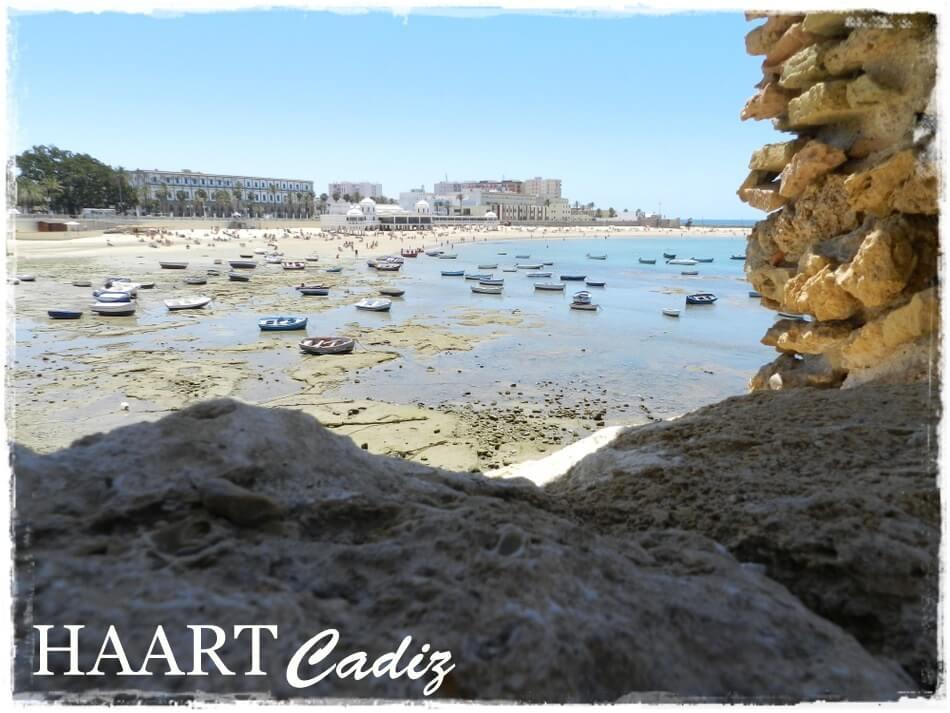 kadyks, cadiz, playa de la caleta, odpływ