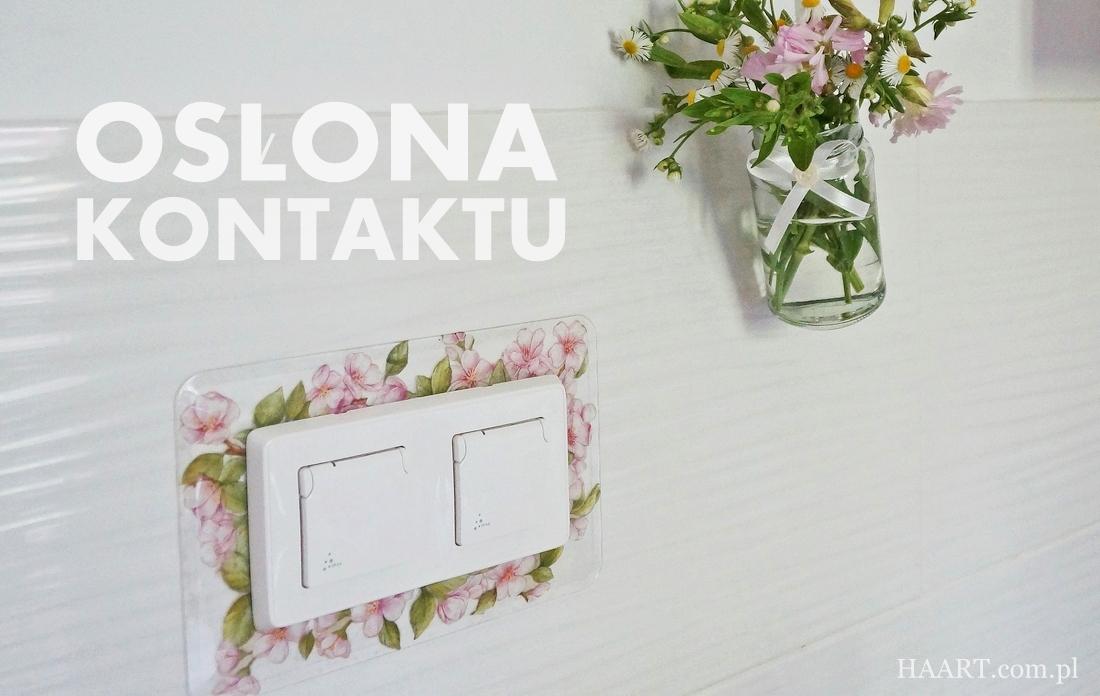 osłona kontaktu decoupage, jak zasłonić ubytek w ścianie, glazura - haart.pl blog diy zrób to sam