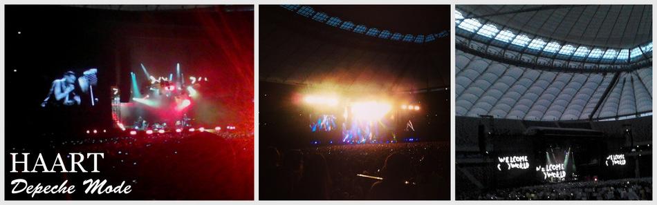 Depeche Mode, koncert, Stadion Narodowy 2013 - HAART blog DIY 2