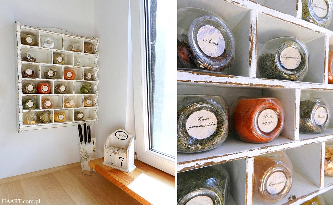 Półka na przyprawy DIY - kiedyś zniszczona, dziś ozdabia kuchnię