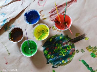 malowanie z dzieckiem, jadalne farby
