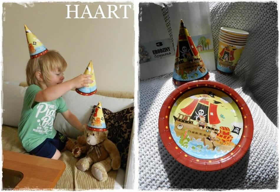 czapeczki na przyjęcie urodzinowe dla dziecka z papierowych talerzyków diy
