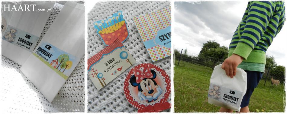 urodziny trzylatka, torebki na słodycze diy