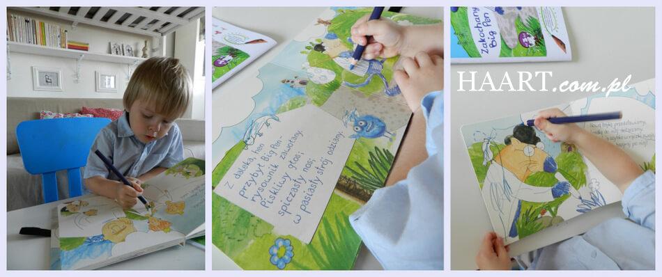 kreatywna książka dla dzieci do bazgrania