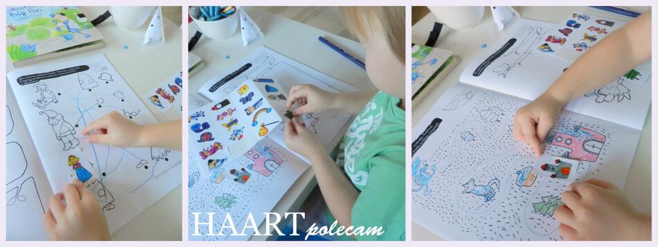 bazgroszyt naklejki dla dzieci, kreatywna książka