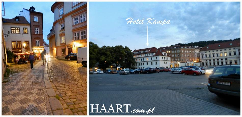 hotel kampa praga praha - z zewnątrz budynek parking wieczór - haart.pl blog diy zrób to sam 9