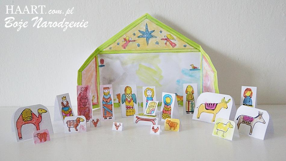 szopka bożonarodzeniowa, zabawa z dzieckiem diy