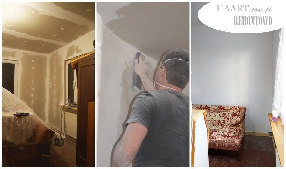 remont starego domu, przecieranie ścian