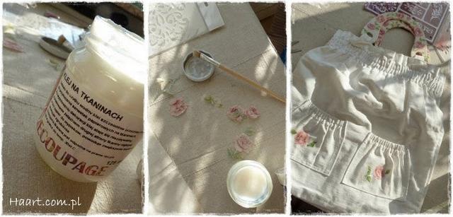 decoupage na tkaninach, klej, malowanie, lakierowanie, pędzel - haart.pl blog diy zrób to sam