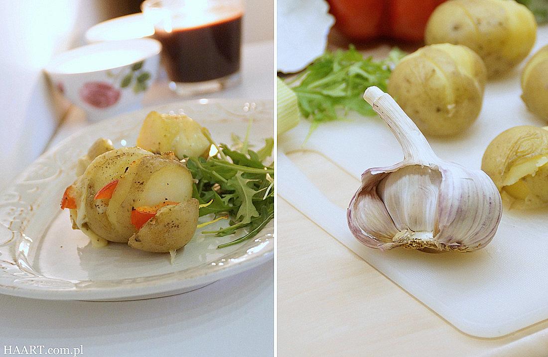 pieczone ziemniaki z warzywami, szybka i prosta kuchnia, gotowanie, dania z ziemniaka - haart.pl blog diy zrób to sam 4