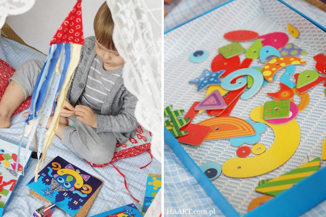 stuku puku, edukacyjna zabawka od granna, zabawka dla dziecka, przybijanie, pineski, recenzja, opinia - haart.pl blog diy zrób to sam