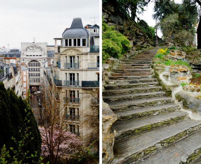 Paryż Montmartre , wzgórze przy sacre coeur