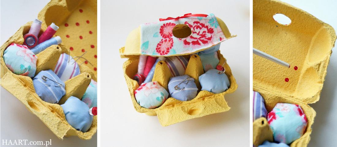 Jak zrobić igielnik z pudełka po jajkach DIY - banalny i szybki sposób