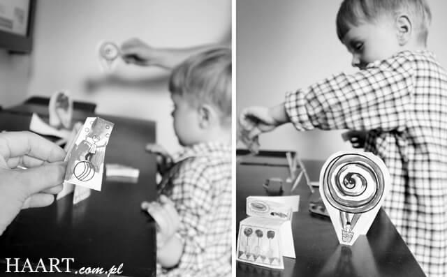 wycinanie i malowanie postaci do domowej zabawy z dzieckiem,