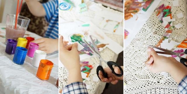 kreatywna zabawa z dzieckiem, wycinanie i malowanie figurek cyrkowych diy