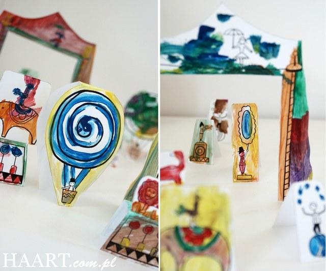 cyrk diy, instrukcja krok po kroku, samodzielnie, jak zrobić, zabawy z dzieckiem, bez zabawek, wycinanie, malowanie - haart.pl blog diy zrób to sam 8