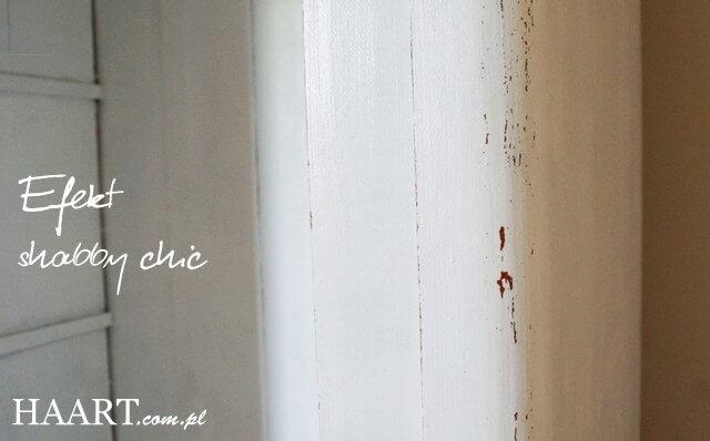 witryna shabby chic efekt po malowaniu i przetarciu