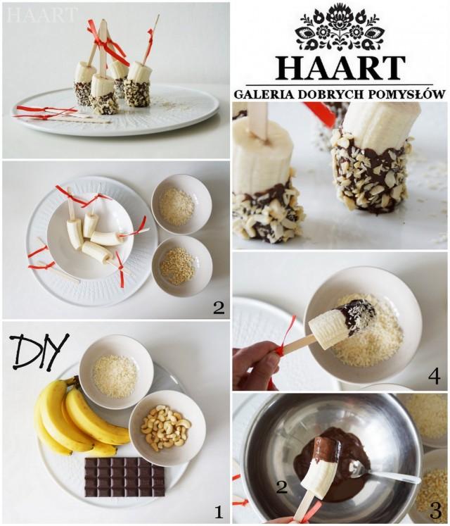 banany w czekoladzie, przepis na słodki deser, przystawka, propozycja kulinarna, prosta kuchnia, szybkie gotowanie - haart.pl blog diy zrób to sam 8