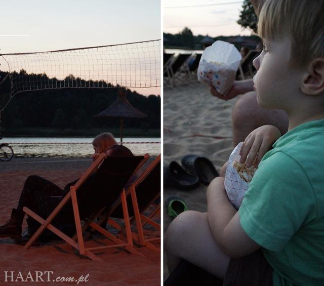 stary drewniany dom, leżak, zachód słońca, siemiatycze, plaża, dziecko, popcorn - haart.pl blog diy zrób to sam 11