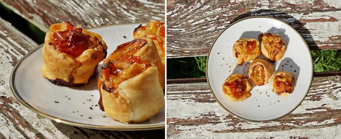 pomidory w cieście francuskim, szybkie potrawy, kuchnia, gotowanie, przekąska, ciasto francuskie, pomysły kulinarne, przepis - haart.pl blog diy zrób to sam