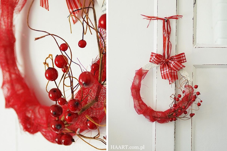 świąteczny wianek diy, instrukcja krok po kroku, jak zrobić, święta, boże narodzenie, efekt końcowy - haart.pl blog diy zrób to sam 11