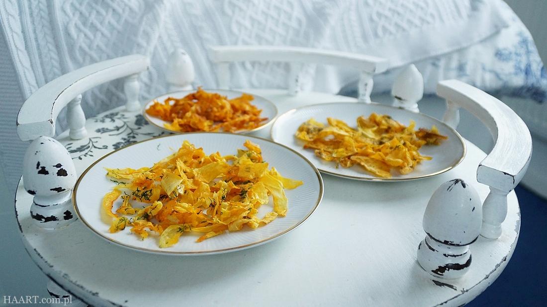 chipsy z dyni, smaczne i zdrowe przekąski, jedzenie dla dzieci, snacki, szybka kuchnia, proste gotowanie, przepis na - haart.pl blog diy zrób to sam