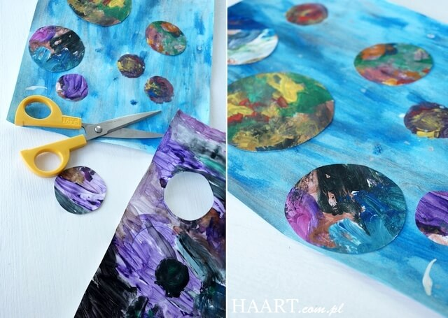 planety, malowanie z dzieckiem, instrukcja i szablon
