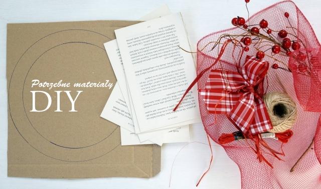 świąteczny wianek diy, instrukcja krok po kroku, jak zrobić, święta, boże narodzenie, etapy, potrzebne materiały, sznurek, tektura, cyrkiel, gazety - haart.pl blog diy zrób to sam 2