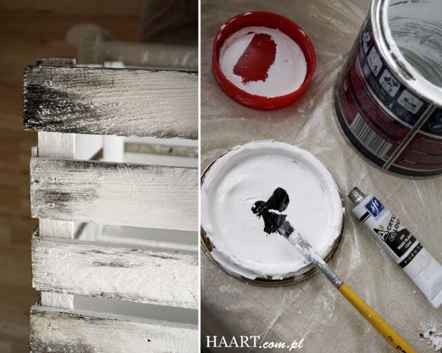 malowanie starej skrzyni ogrodowej efekt shabby chic