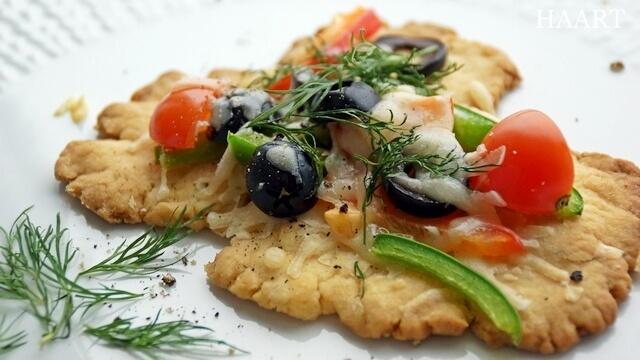 kruche ciasto z warzywami, wegetariański przepis na przystawkę