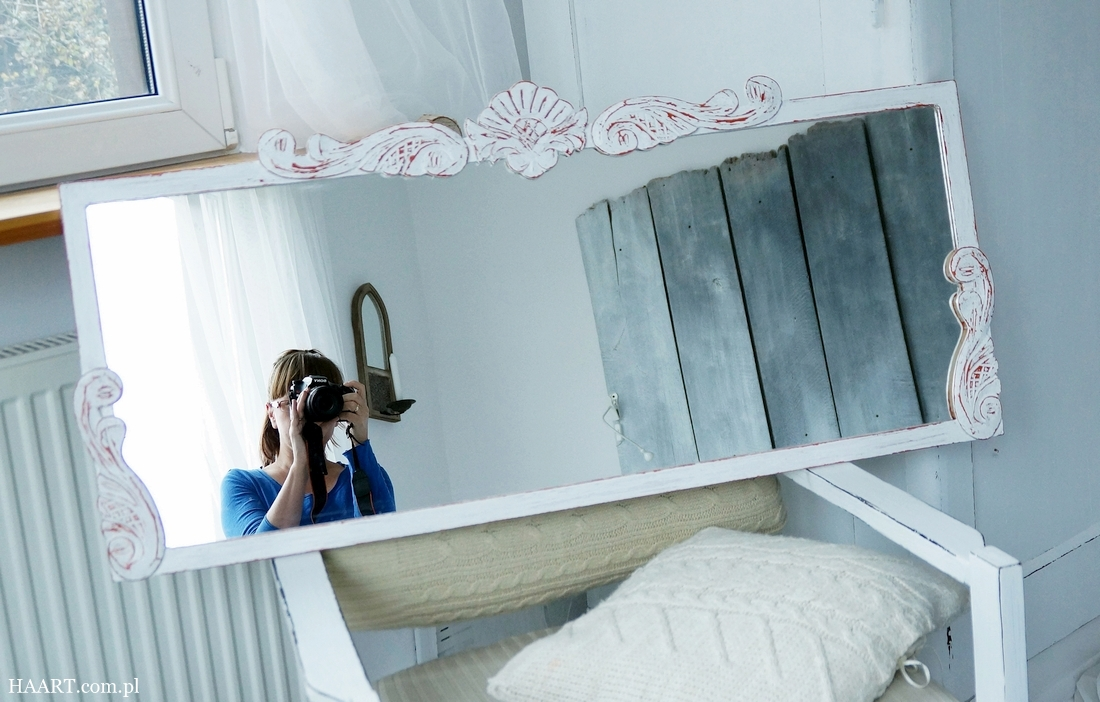 Lustro shabby chic - metamorfoza zwykłego lustra w piękną dekorację DIY