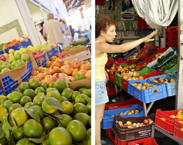 bazar z owocami i warzywami, larnaka