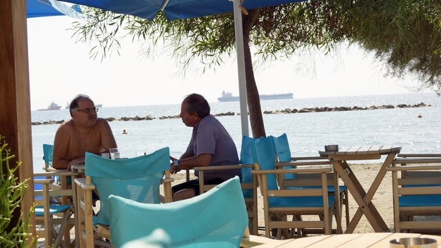 kawiarnia na plaży, limassol cypr