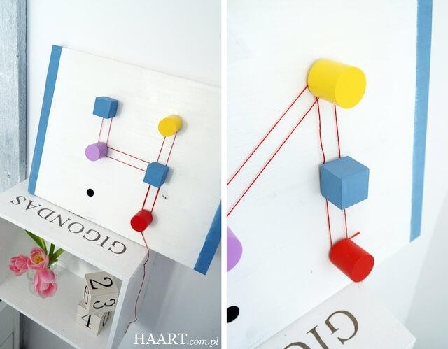 rzepy tesa, tablica edukacyjna dla małych dzieci, nauka cyferek diy