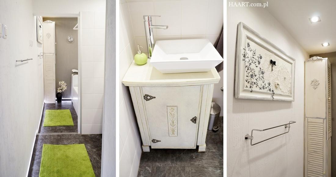 łazienka z soczystą zielenią, remont, dodatki, toaleta, stary dom - haart.pl blog diy zrób to sam
