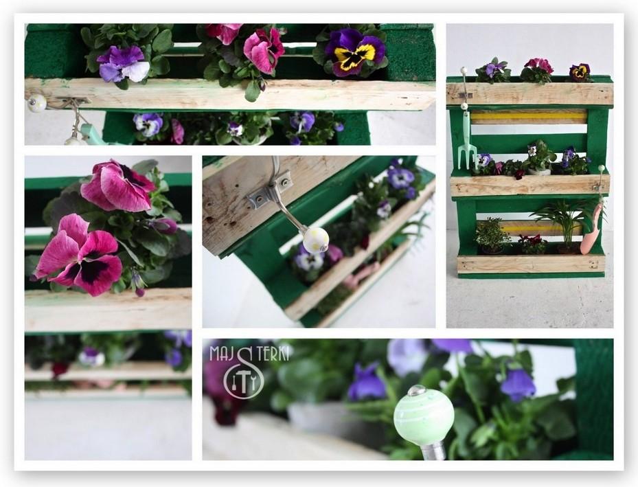 doniczki na tarasie i balkonie, 11 pomysłów, palety, upcycling - haart.pl blog diy zrób to sam 4