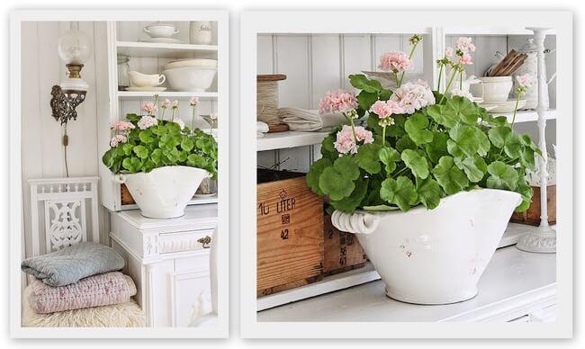 doniczki na tarasie i balkonie, stara waza