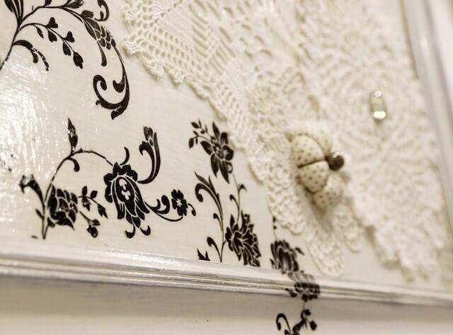 ornamenty decoupage w ramie