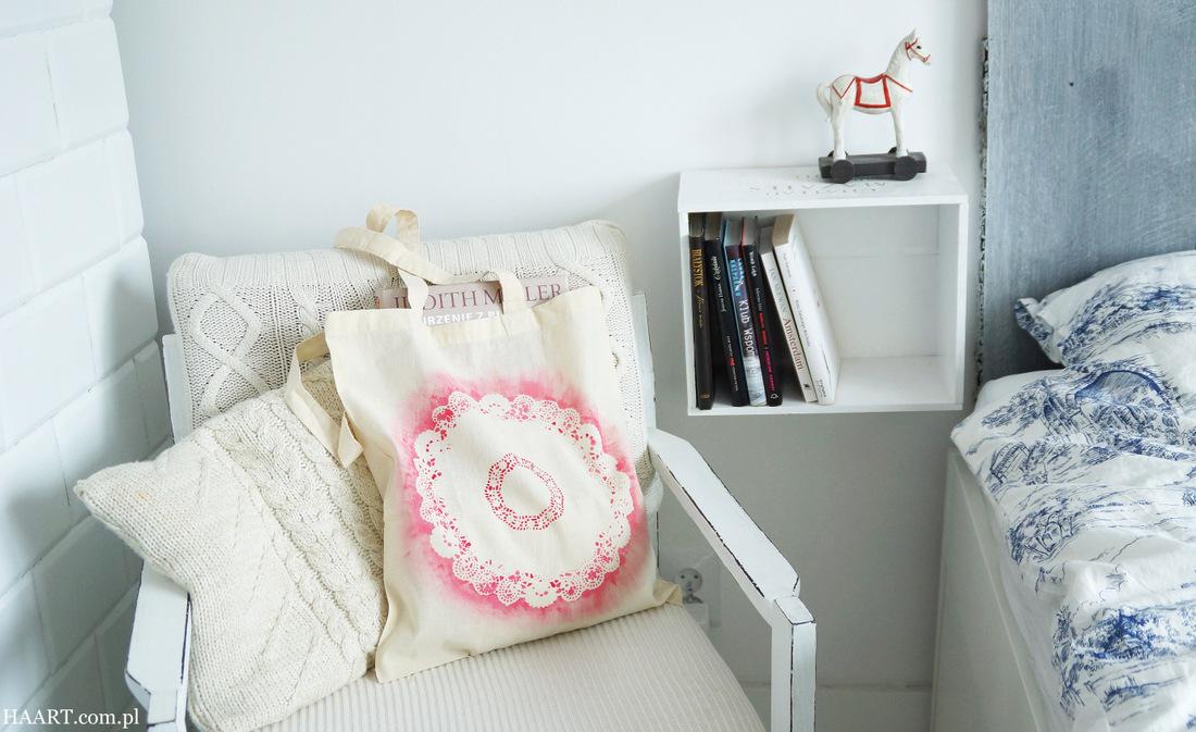 farby do tkanin, gąbka, tapowanie, torba lniana bawełniana, serwetka, krok po kroku, instrukcja - haart.pl blog diy zrób to sam