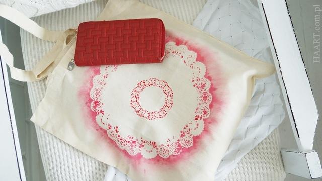 farby do tkanin, efekt końcowy, tapowanie, torba lniana bawełniana, serwetka, krok po kroku, instrukcja - haart.pl blog diy zrób to sam 9