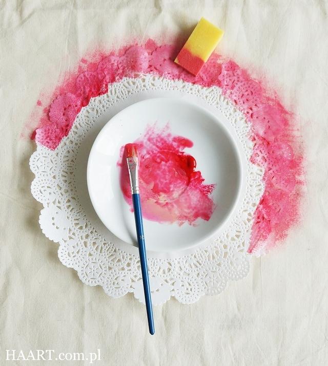 farby do tkanin, gąbka, pędzelek, malowanie, tapowanie, torba lniana bawełniana, serwetka, krok po kroku, instrukcja - haart.pl blog diy zrób to sam 4
