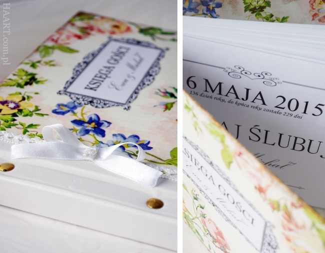 księga gości weselnych, wesele, ślub, decoupage, personalizacja, album na zdjęcia, autografy, życzenia, krok po kroku, instrukcja - haart.pl blog diy zrób to sam 6